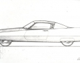 1955 Ghia Gilda Streamline-X drawing
