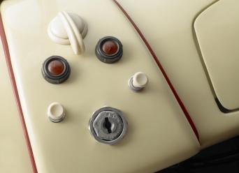 1949 Porsche 356-2 Gmund Coupe buttons A