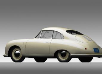 1949 Porsche 356-2 Gmund Coupe - r3q