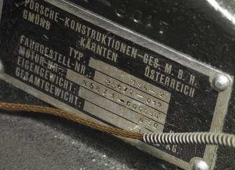 1949 Porsche 356-2 Gmund Coupe serial number badge