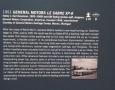 1951 GM Le Sabre XP-8 Information Board
