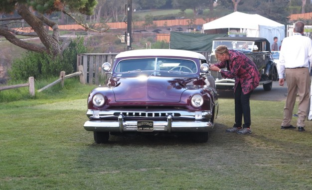 Dawn Patrol: A '51 Mercury custom enters the show field.